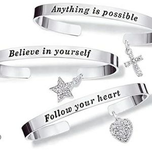 My Truth Charm Bracelet Cross